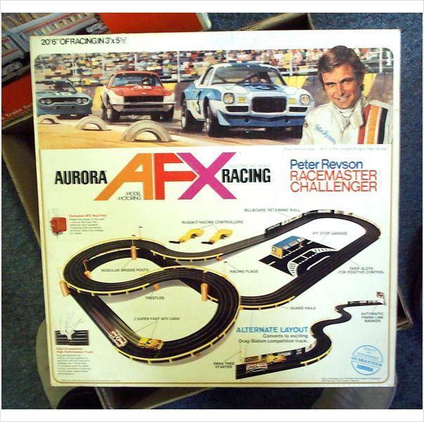 "ideas for garage sale ads - Aurora HO AFX ""Peter Revson"" Slot Car Set Used Box in"