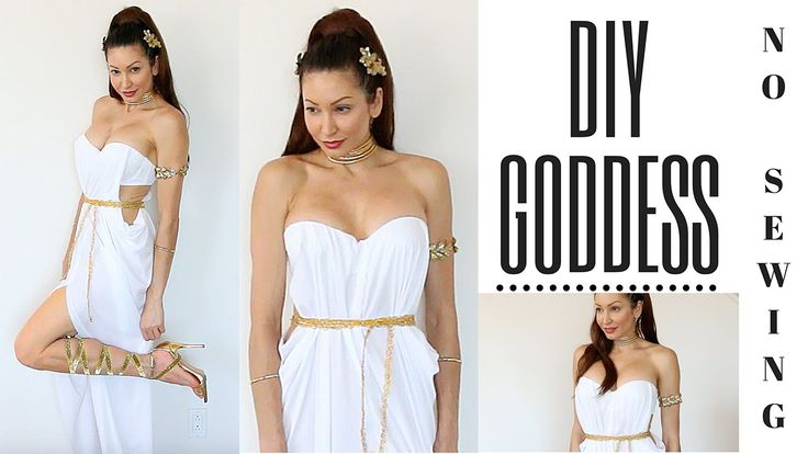 DIY Greek Goddess Costume-EASY NO SEWING!!!!