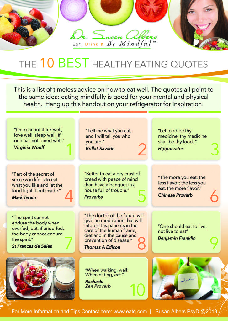 10 Best Healthy Eating Quotes   | Pinned by CamerinRoss.com