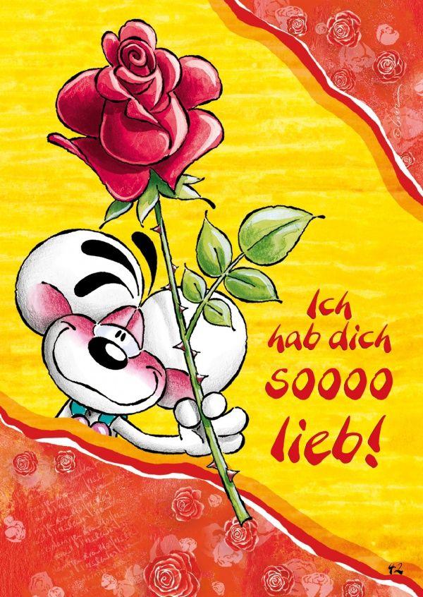Ich hab dich soooo lieb! | Diddl | Echte Postkarten online versenden | Diddl