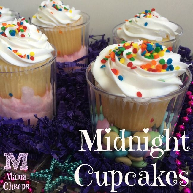 Princess Party Snack: Midnight Cupcakes