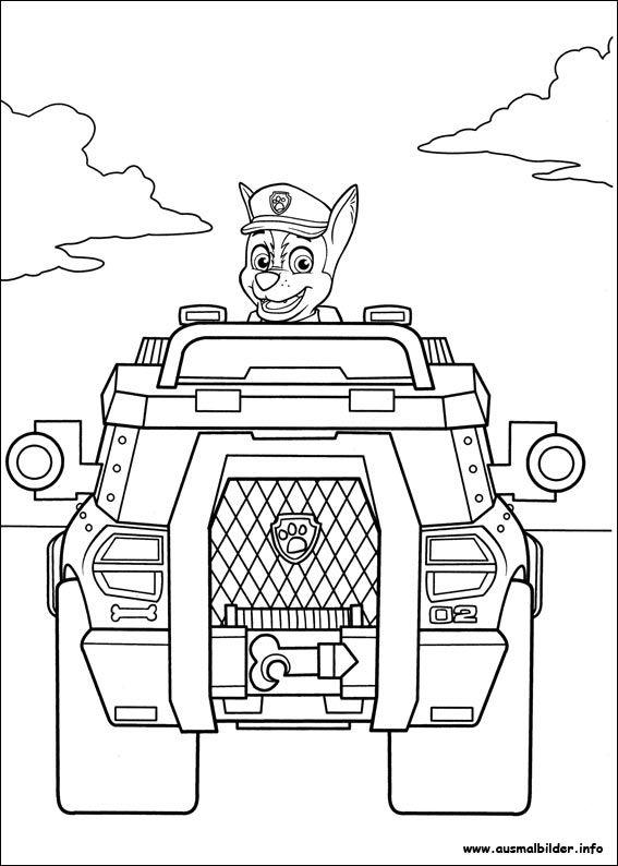 Paw Patrol Ausmalbilder Autos