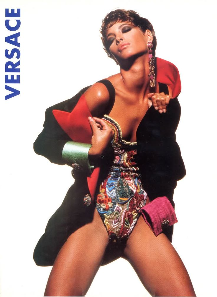 Atelier Versace 1990/91 ad by Tyen and Christy Turlington