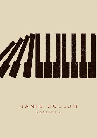 Jamie Cullum Momentum tour poster by Edu Torres | via Talenthouse