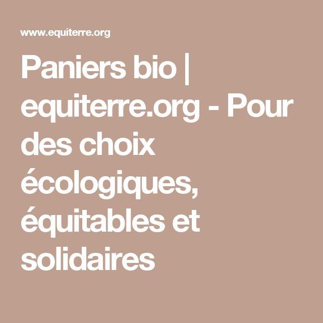 Paniers bio   equiterre.org - Pour des choix écologiques, équitables et solidaires