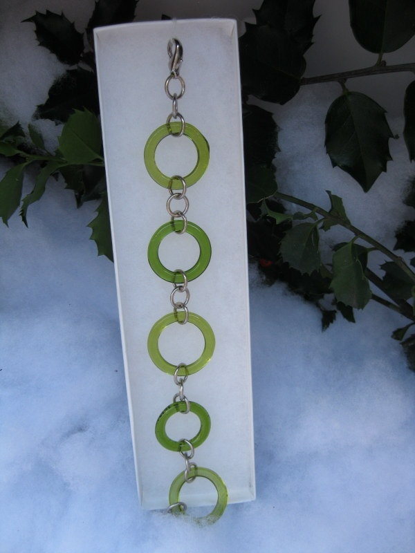 Recycled Wine Bottle Bracelet