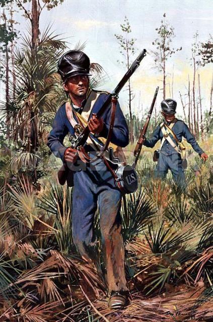 US Infantry Seminole Wars 1838