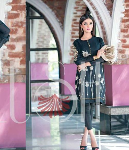 Plush Embroidered Kurtis Eid Collection by Riaz Arts EK_32