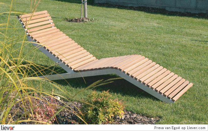 Meer dan 1000 idee n over ligstoelen op pinterest designer stoel chaise lounge stoelen en - Deco kleine tuin buiten ...