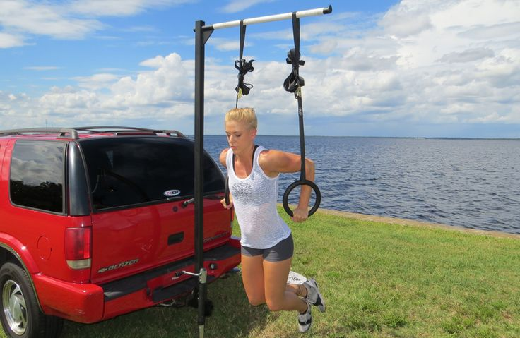 Car Hitch Chin Up Bar And Squat Rack For Cross Training
