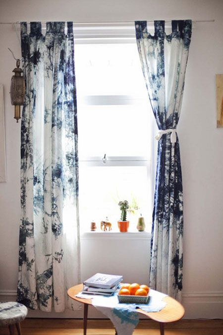 Shibori curtains                                                                                                                                                                                 Mais