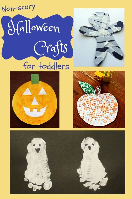 Not-at-all-scary Halloween crafts for toddlers
