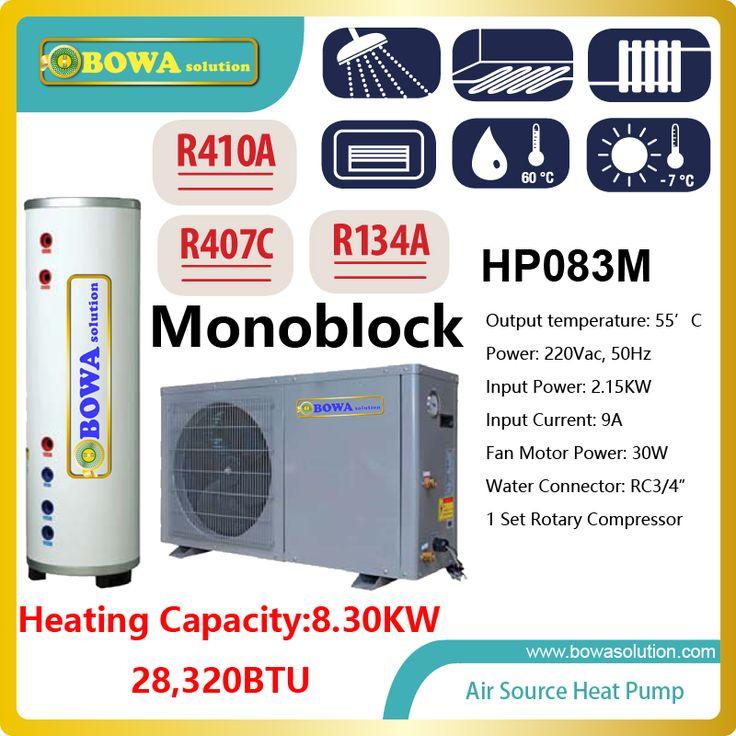 28, 000BTU geïntegreerde Hi-COP lucht-warmtepomp boiler zonder water tank, controleer met ons over verzendkosten
