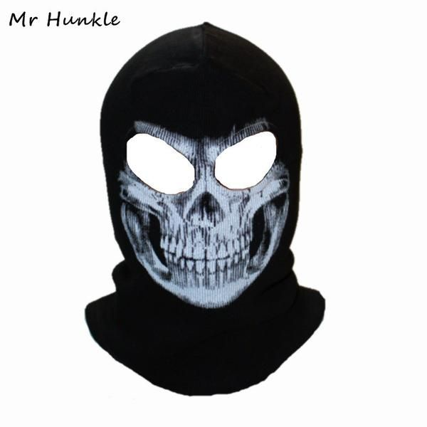 FuzWeb:Winter Skull Mask Balaclava Beanies Hats Men Ghost Skull Full Face Mask out door Hood Beanie Gorros Hombre Casquette