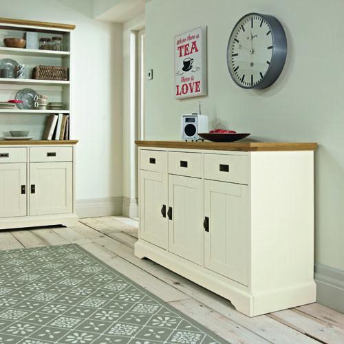 Rustic Two Tone Wide Sideboard - £325 | brandinteriors.co.uk