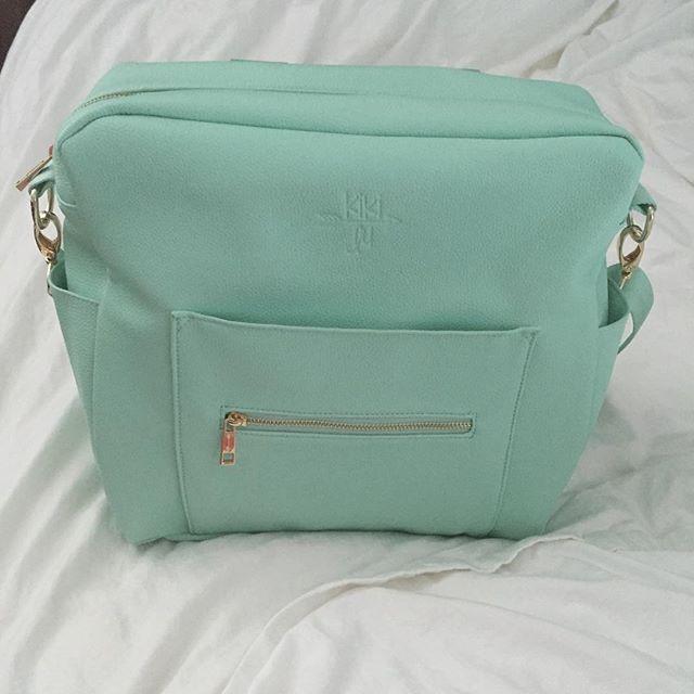 Kiki Lu Diaper Bag In Mint From Instagram Kikiludesigns Designs Pinterest Bags And Essentials