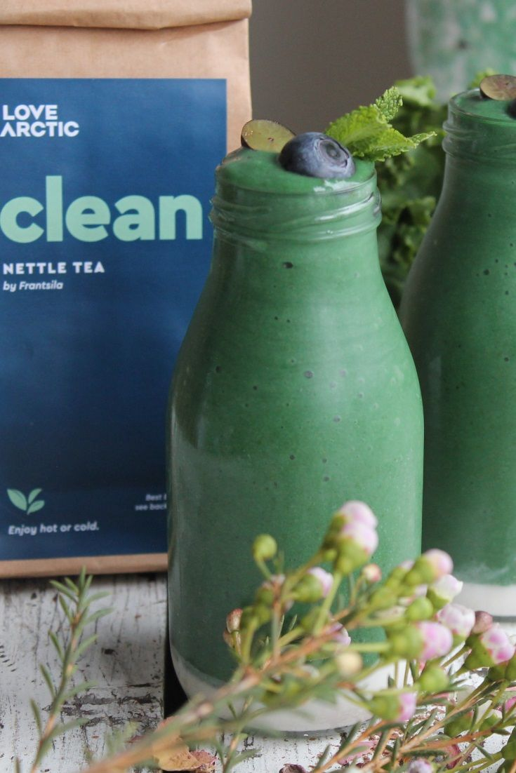 GREEN DETOX SMOOTHIE (vegan, gluten free, no refined sugar)