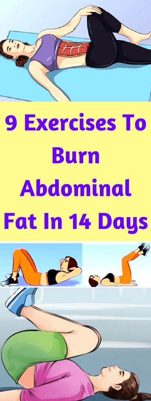 9 Exercises To Burn Abdominal Fat In 14 Days - Workout Hit
