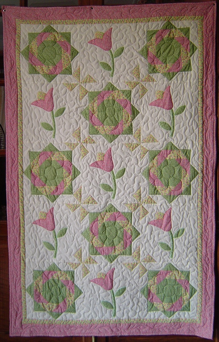 17 Images About Quilts Tulip Quilts On Pinterest Machine Quilting Quilt Kits And Appliques