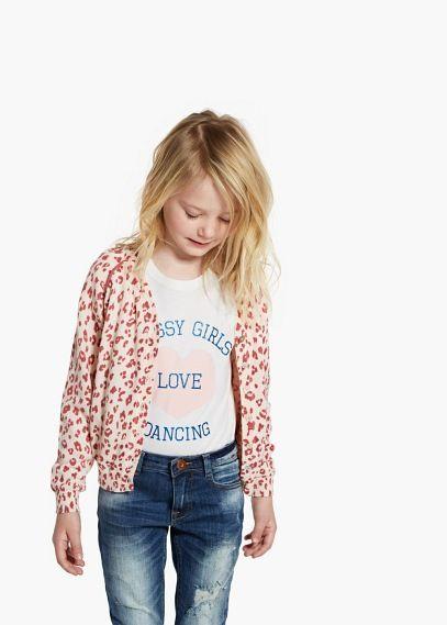 Leopard print cardigan | MANGO KIDS
