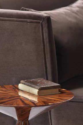 Sofá moderno / de interior / de tela - MAGMA - hmd-interiors