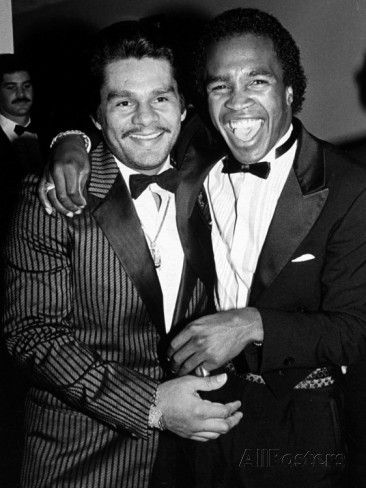 Boxing Greats Roberto Duran and Sugar Ray Leonard at 20th Anniversary of World Boxing Council Premium Photographic Print by David Mcgough at AllPosters.com