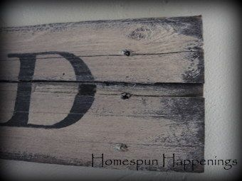 Homespun Happenings: I Made a Sign