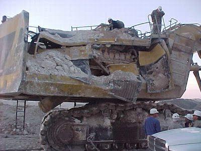 Mining Mayhem Highwall Failure Onto Excavator Mining
