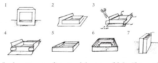 Create a Mini Kamishibai lesson for kids, with visual instructions