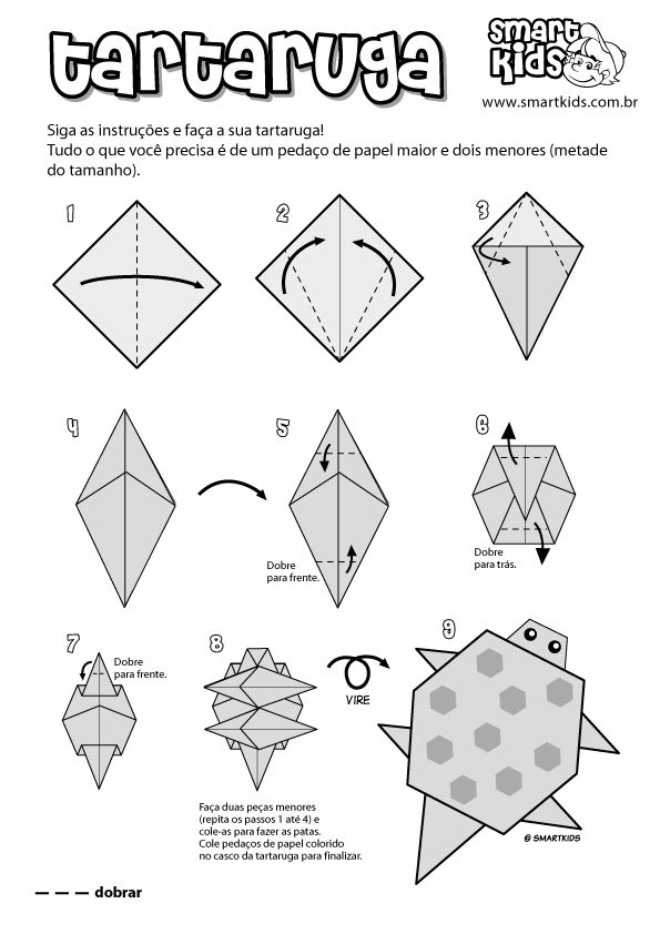 Atividade Origami Tartaruga