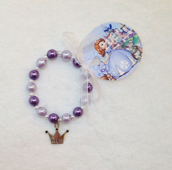 8 Sofia the First Charm Bracelet Birthday by MichelleAndCompany