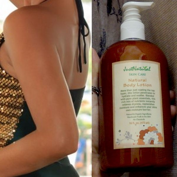 You know how the back of your arms can get dry and bumpy? Well, this stuff works magic! I use to exfoliate the back of my arms weekly but since I started using this I no longer have to! Give this natural body lotion a week or two to transform your skin and then you'll be addicted! This is worth every penny!