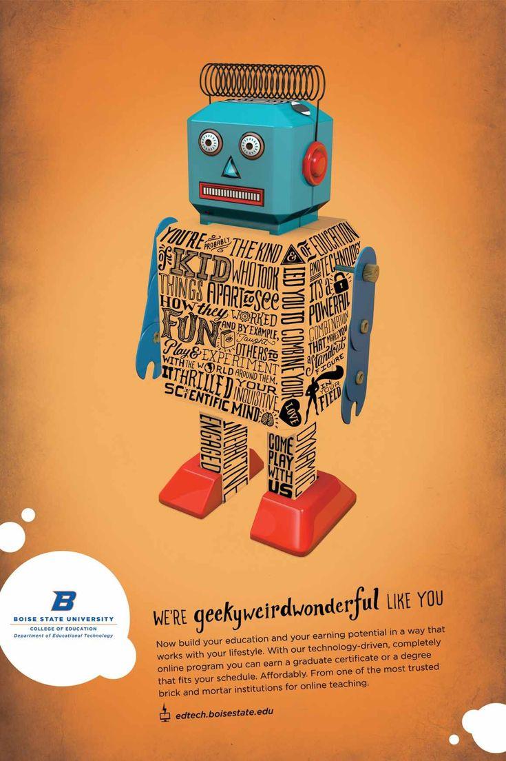 Best poster design 2014 - Boise State University Educational Technology 2014 Recruitment 2 Advertising Agency Sovrn Creative