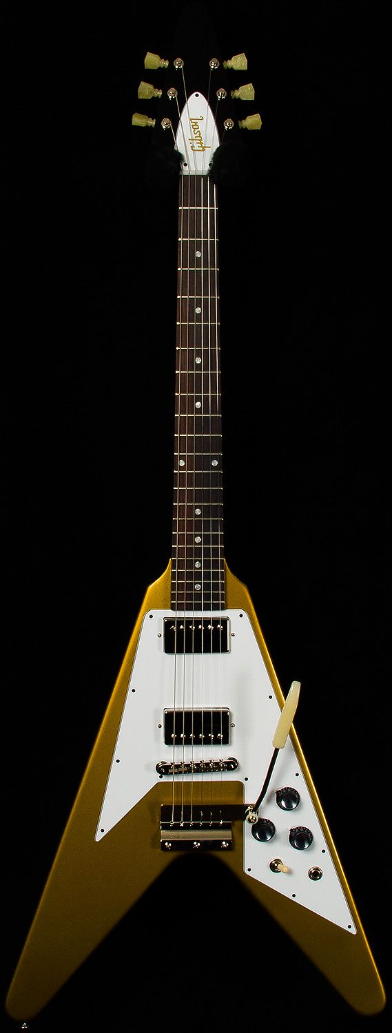 Gibson CustomBenchmark Collection2014 Limited Run1967 Flying V.85-.99/6.29 lbsGoldOn Sale