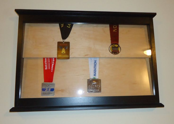 Sports Medal Display Case Wall Mounted