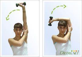 Ejercicio para vencer la flacidez de los brazos
