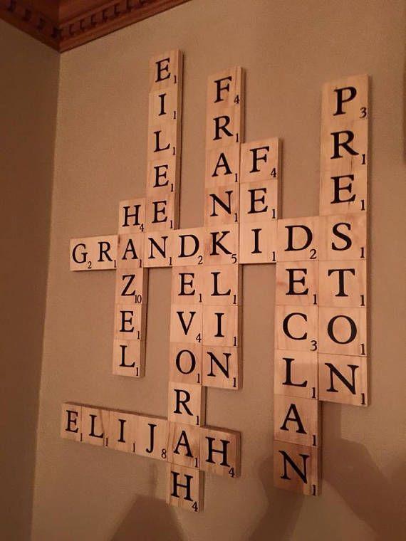 Family Scrabble Art Scrabble Wall Tiles Mother S Day Etsy Scrabble Tiles Wall Scrabble Wall Art Scrabble Art Family