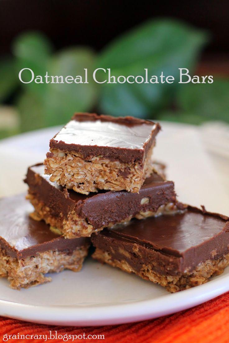 Grain Crazy: Oatmeal Chocolate Bars