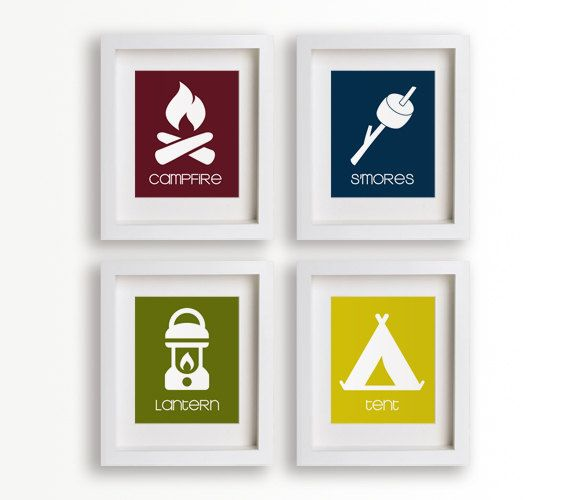 Baby S First Art Print Smores 8x10 Children Decor Nursery Decor Nursery Wall Camping Bedroomcamping