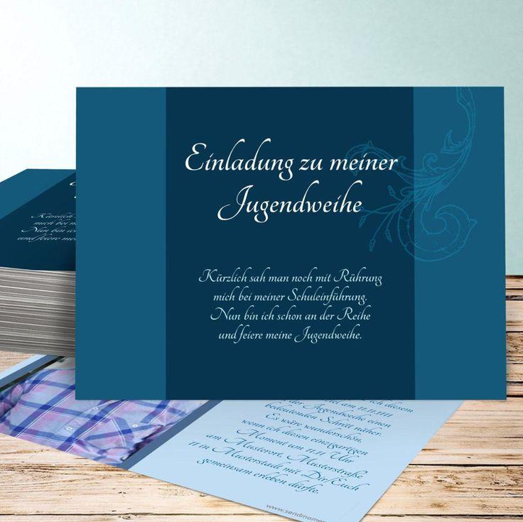 einladungskarten jugendweihe junge oder einladungskarten