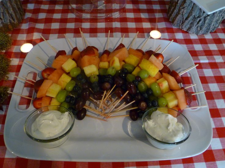 creative baby shower fruit trays rainbow fruit platter on skewers