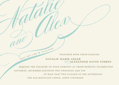 Tiffany Blue Wedding Invitation