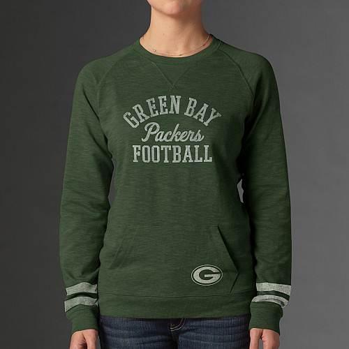 """'47 Brand Green Bay Packers Women's """"Homefield"""" Crew Sweatshirt"""