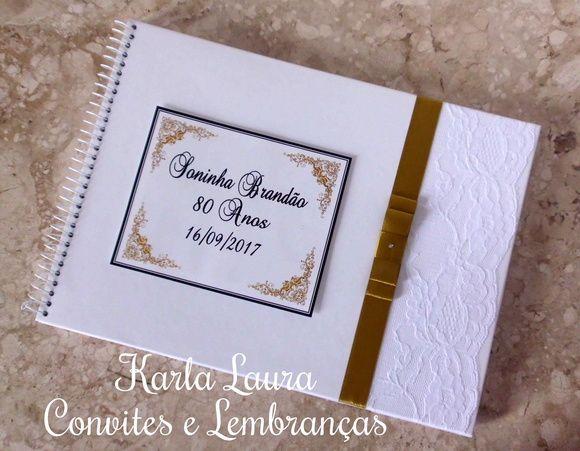 Caderno De Mensagens Adulto 80 Anos Caderno Artesanato E Faca