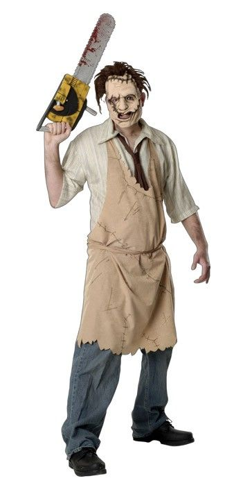 """<p>Horror Leatherface fancy dress men's costume from the 80's slasher movie Texas Chainsaw Massacre. This creepy Leatherface<a title=""""Buy Halloween Costumes Online"""" href=""""http://www.heavencostumes.com.au/halloween.html"""" target=""""_self"""">Halloween costume</a>is perfect for your next scary movie themed dress up party. See description and size information below.</p>"""