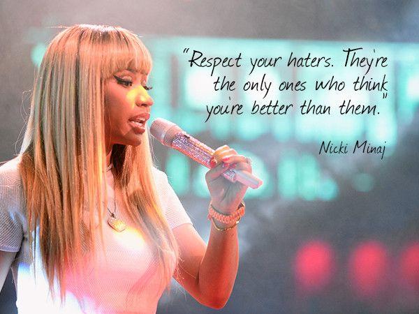 Nicki Minaj on Haters