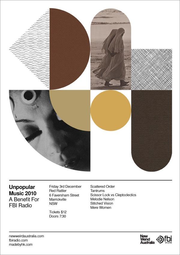 unpopular / new weird australia: Weird Australia, Gig Poster, Grid Layout, Graphics Design, Identity Design, Heathkillen, Colors Schemes, Music Posters, Heath Killen
