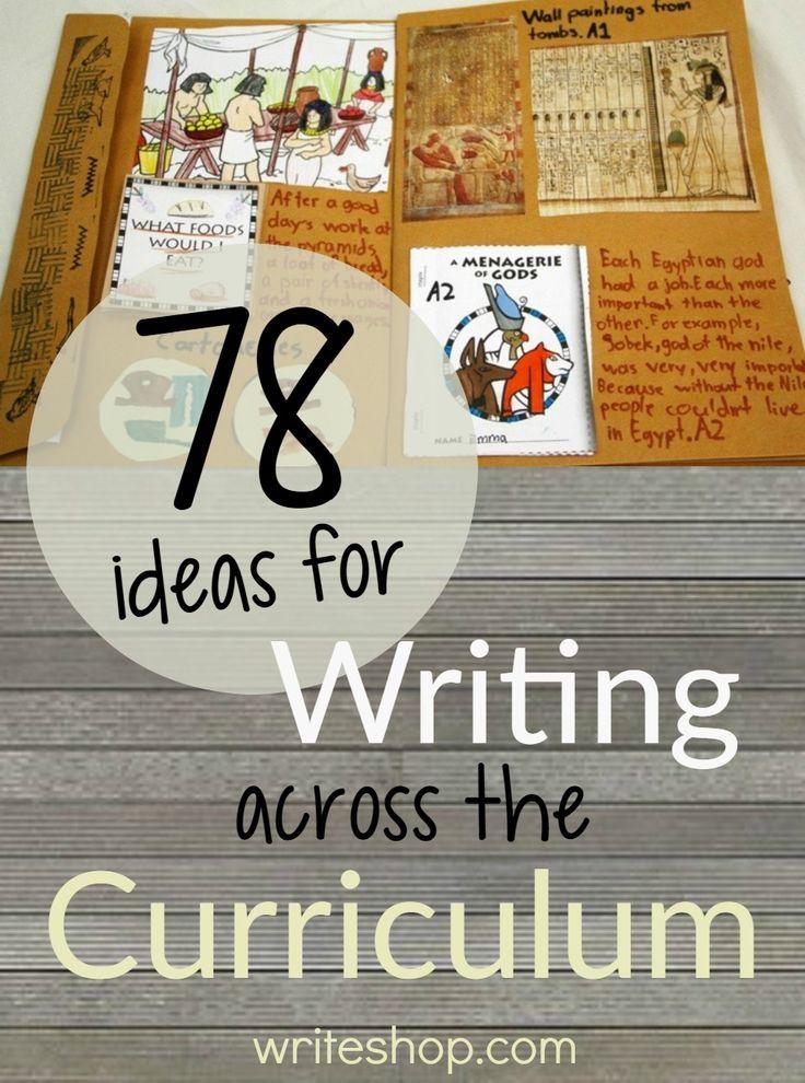 writing across the curriculum ideas