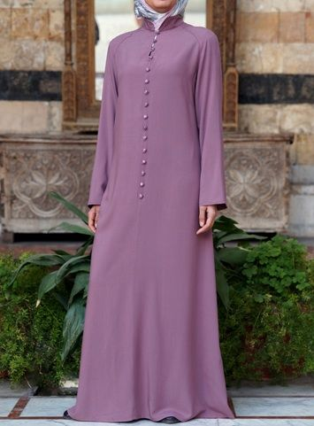 Shanghai Abaya Twilight Mauve color East meets west in this flattering classy…