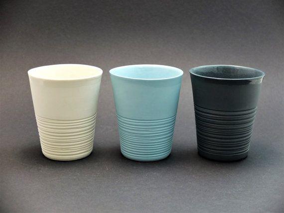 Moder porcelain mug contemporary ceramics modern mug by WerkStaat